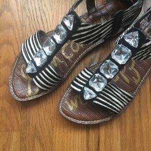 Sam Edelman zebra sandal